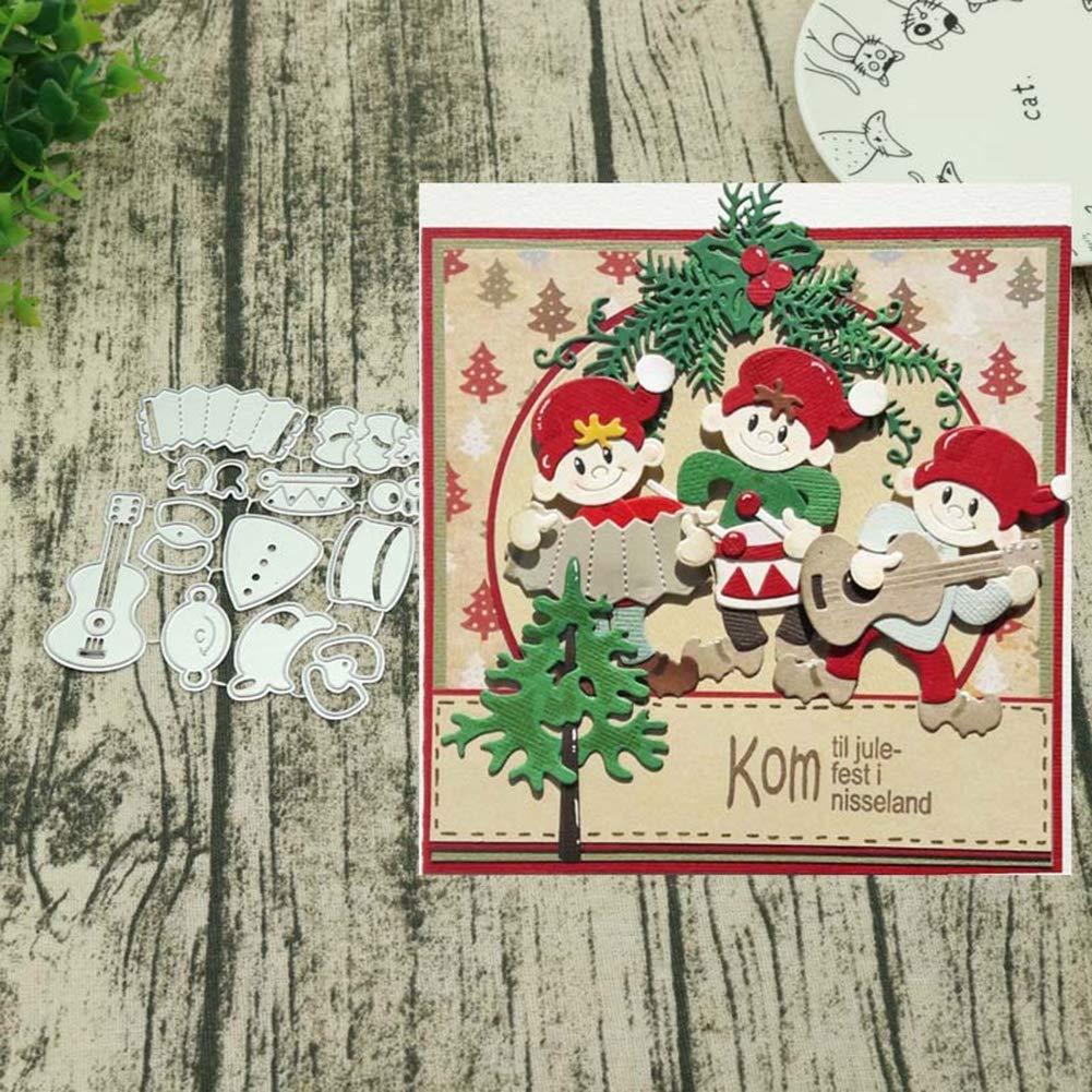 skgardeniamy nastro taglio film Fest di Natale regalo fai da te scheda carta rendono Scrapbooking per goffratura argento