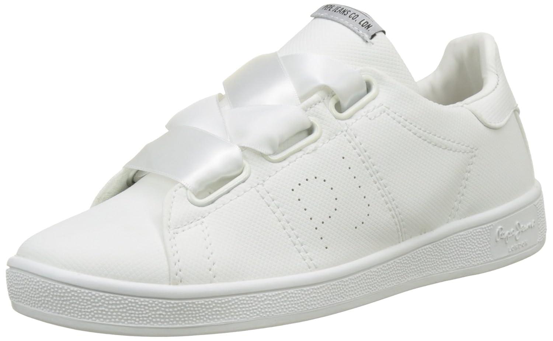 Pepe Jeans Brompton Square, Zapatillas Mujer 41 EU|Blanco (White)