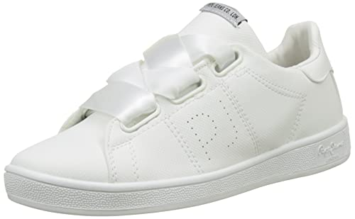 London Verona W Elastic, Zapatillas Mujer, Blanco (White), 40 EU Pepe Jeans London