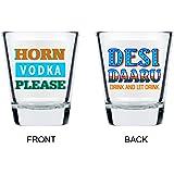 Horn Vodka Please Glasses by Ek Do Dhai [set of 2]