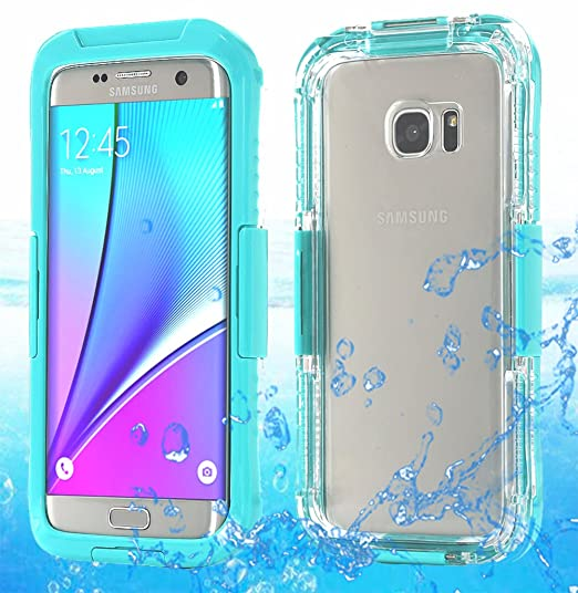 size 40 a3077 e773b Galaxy S7 Edge Waterproof Case, AICase Armor Dust Proof Shockproof Snow  Proof Case Crystal Clear Full Body Protective Cover for Samsung Galaxy S7  Edge ...