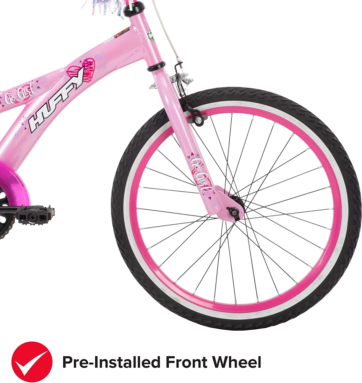 Huffy Kids Bike Go Girl /& Ignyte 20 inch Quick Connect or Regular Assembly Kickstand Included