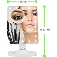 Makeup Vanity Mirror with 22 LED Lights plus a 10X Magnification Cosmetic Mirror