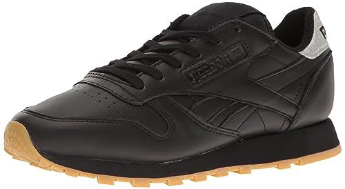 290f60d0383 Reebok Women s Classic Leather Metallic Diamond Fashion Sneakers ...