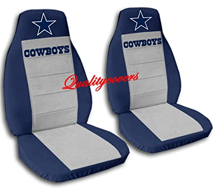 Remarkable Amazon Com Front And Rear Cowboys Seat Covers Navy Blue Alphanode Cool Chair Designs And Ideas Alphanodeonline