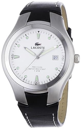 Lacoste 3510G 34 - Reloj analógico de caballero de cuarzo con correa de piel negra: Amazon.es: Relojes