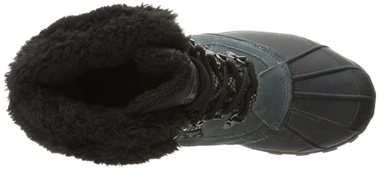 Propet Women's Blizzard Mid Lace Ii Winter Boot B01AYP24W2 8.5 M US Black/Aztec Knit