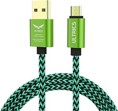 ULTRICS Cable Micro USB 3M, Trenzado Nylon Carga Rápida y Datos ...