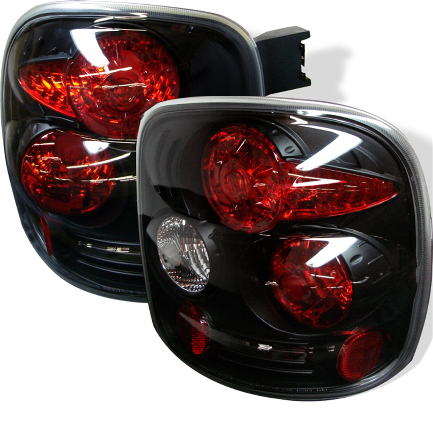 Amazon.com: Spyder Auto Chevy Silverado Stepside Black Altezza Tail Light:  Automotive