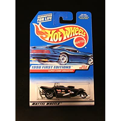 Hot Wheels Super COMP Dragster Black 1998 First Editions Series #22 of 40 Basic Car 1:64 Scale Series Collector #655: Toys & Games