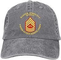 Desconocido USMC Sargento Mayor Retirado Denim Dad Cap Gorra de béisbol Ajustable Sun Cap