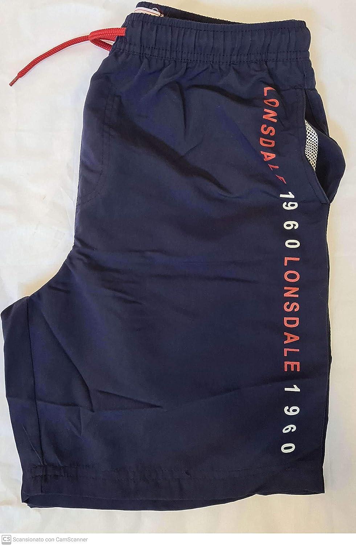 deporte piscina Lonsdale Ba/ñador de hombre para nataci/ón cierre de cord/ón y el/ástico en la cintura. slip pantalones secado r/ápido para playa calcetines