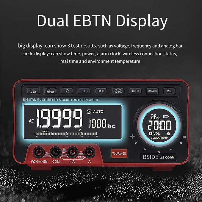 Gogdog Zt 5566 Mini Desktop Multimeter Double Display Ebtn 19999 Counts Multimeter Bluetooth Speaker Voltage Current Cap Hz Testers Küche Haushalt