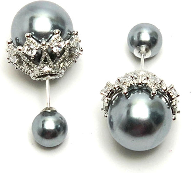 AZERDSA41 Halloween Trendy Designer Double Sided Luxury Stud Earrings For Women
