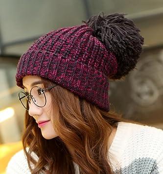 Peluca de piel de gran tamaño engrosada Gorra de lana gruesa de punto Sombrero de orejeras