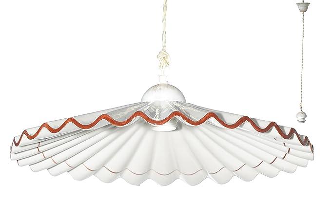 Plafoniere Industriali Diametro 30 : Vanni lampadari lampada a sospensione piatto plisse diametro 40 in