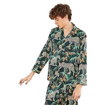 dd0841f73d MEMIND Europa und Amerika Bequeme Pyjamas männer frühling und Herbst  Langarm Hosen männer Mantel Hosen Bademantel