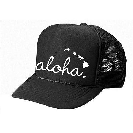 9cffce755d0 Hawaii Honolulu HAT - Aloha - cool stylish apparel accessories (Black-White  Print)