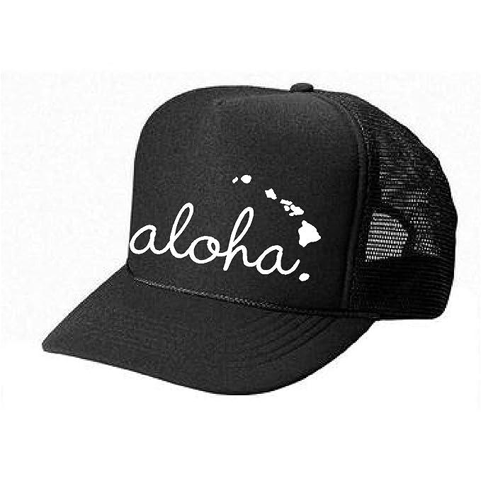 427f8f61631 Hawaii Honolulu HAT - Aloha - cool stylish apparel accessories (Black-White  Print)