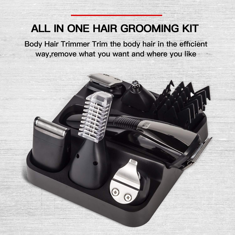 6 In 1 Multi-Functional Grooming Kit, Cordless Waterproof Men's Beard Hair Trimmer Set