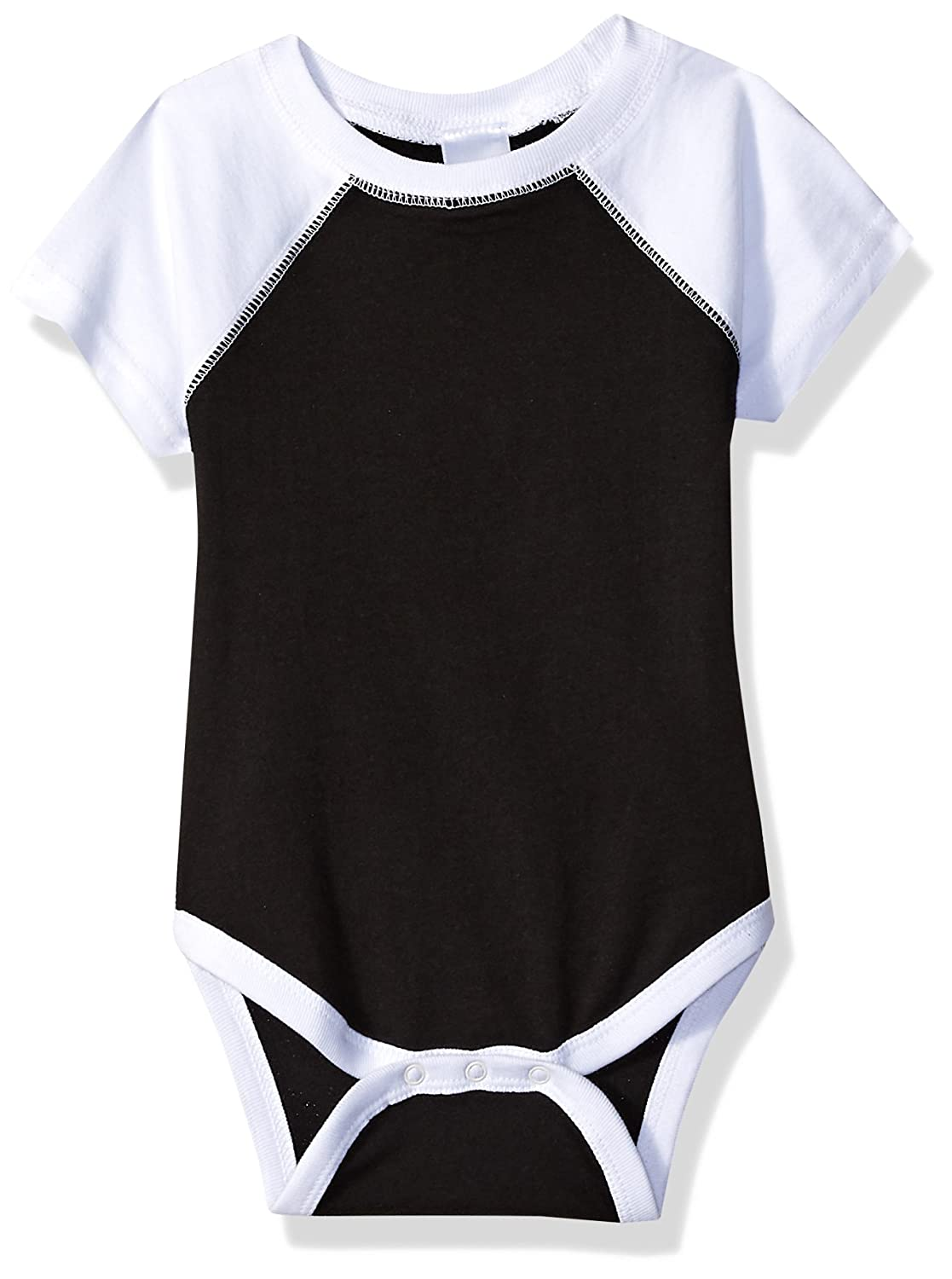 0c5eabddc62 Infant Baseball Bodysuit is an ultra-soft cotton poly blend jersey with  short Raglan sleeves. Made from combed ring spun cotton, polyester and ...