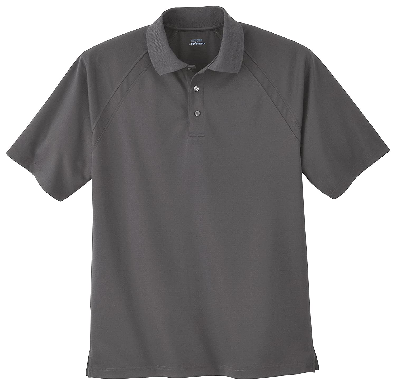 Black Silk 5X Ash City Mens Mens Ottoman Textured Polo Shirt