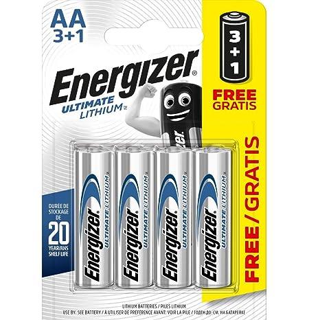 loop schoenen concurrerende prijs goedkoopste prijs Energizer AA/L91 2900.0mAh Ultimate Lithium Batteries (Pack of 4)
