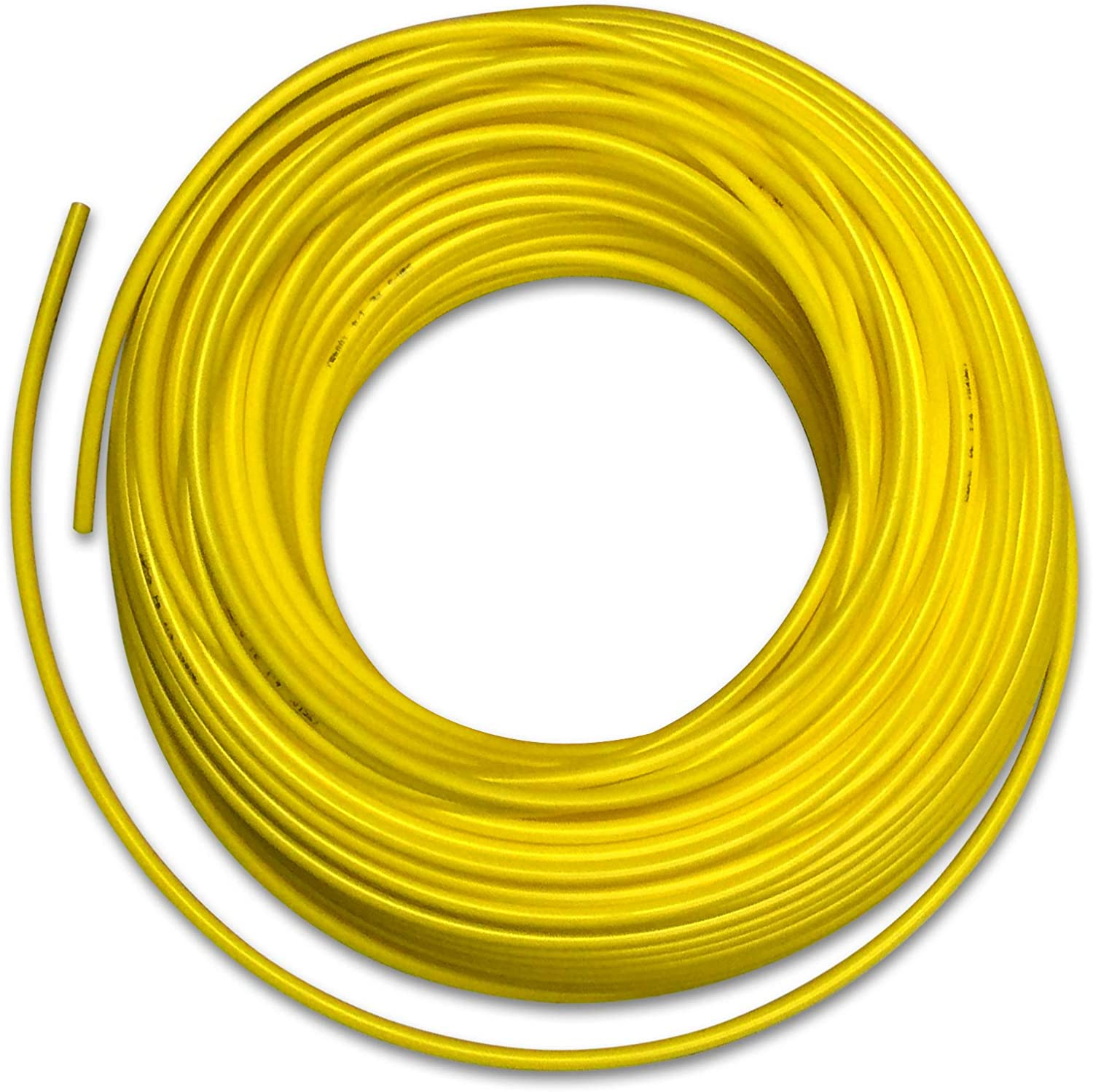 Food Grade 1/4 Inch Plastic Tubing for RO Water Filter System, Aquariums, Refrigerators, ECT; BPA free; Made from FDA compliant materials and meets NSF Standards and Regulations (10 Feet, Yellow)