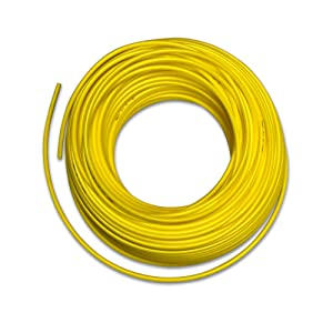 Food Grade 1/4 Inch Plastic Tubing for RO Water Filter System, Aquariums, Refrigerators, ECT (50 Feet, Yellow)
