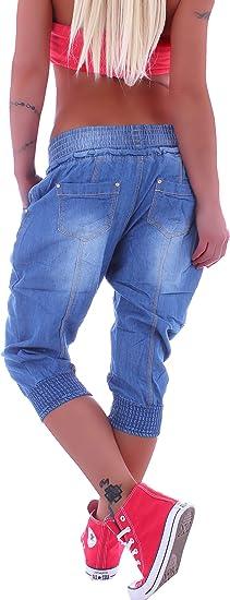 Boyfriend Jeans Capri Baggy Harem Hose Pumphose Haremshose 3//4 Pluderhose M77