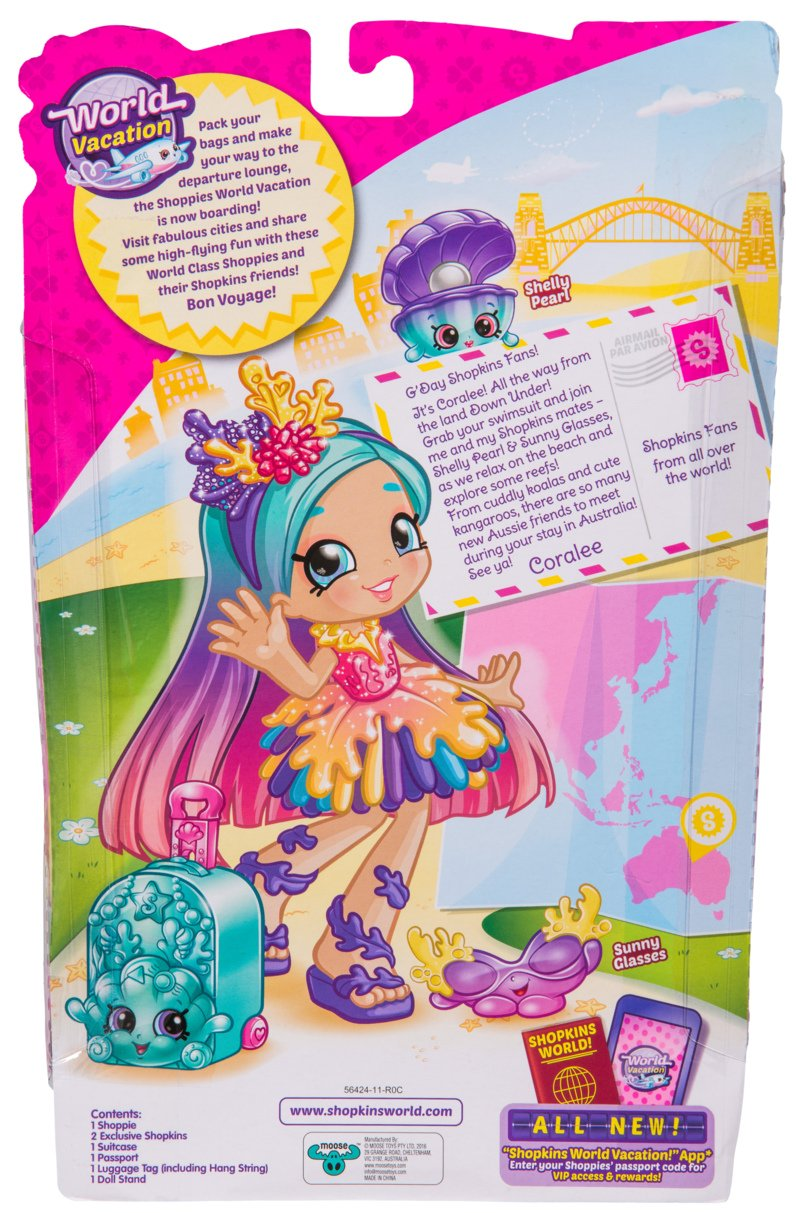 Amazon Shopkins Coralee Visits Australia Toys Games