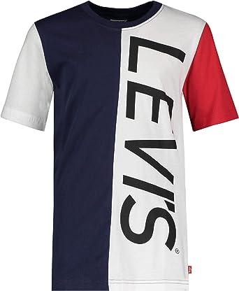 Levis LA Camiseta Blanca Azul del Chico 8EA995: Amazon.es: Ropa