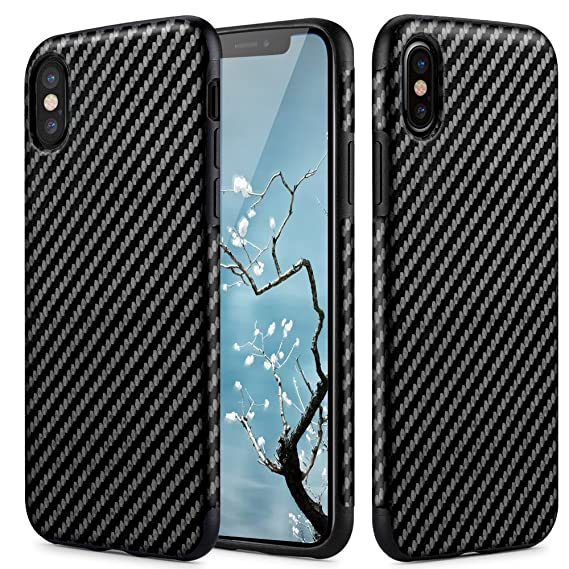 Carbon Fiber Iphone Case >> Iphone X Iphone Xs Case Carbon Fiber Light Thin Cover Non Slip Fingerprint Free Drop Protection Case Cover For Apple Iphone X Iphone Xs