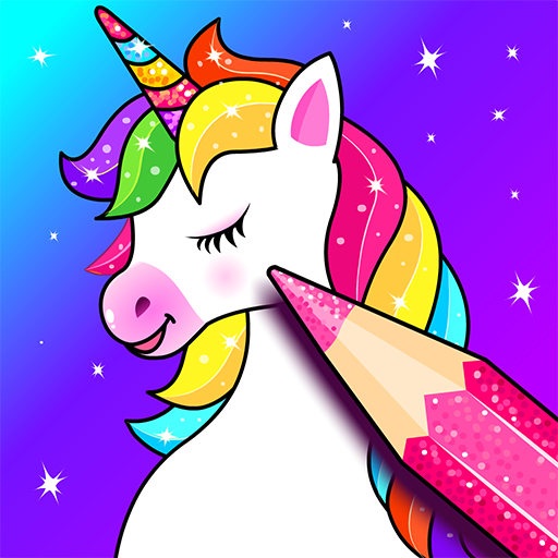Amazon.com: Unicorn Coloring Games For Kids: Rainbow Glitter Coloring Pages  & Drawing Book For Girls & Boys 🌈🦄🎨: Appstore For Android
