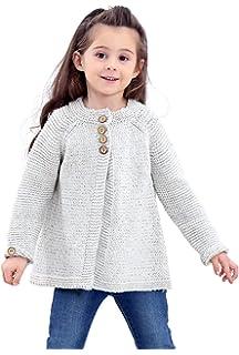 80755a369953 Amazon.com  Sunbona Toddler Baby Girls Cute Autumn Button Knitted ...