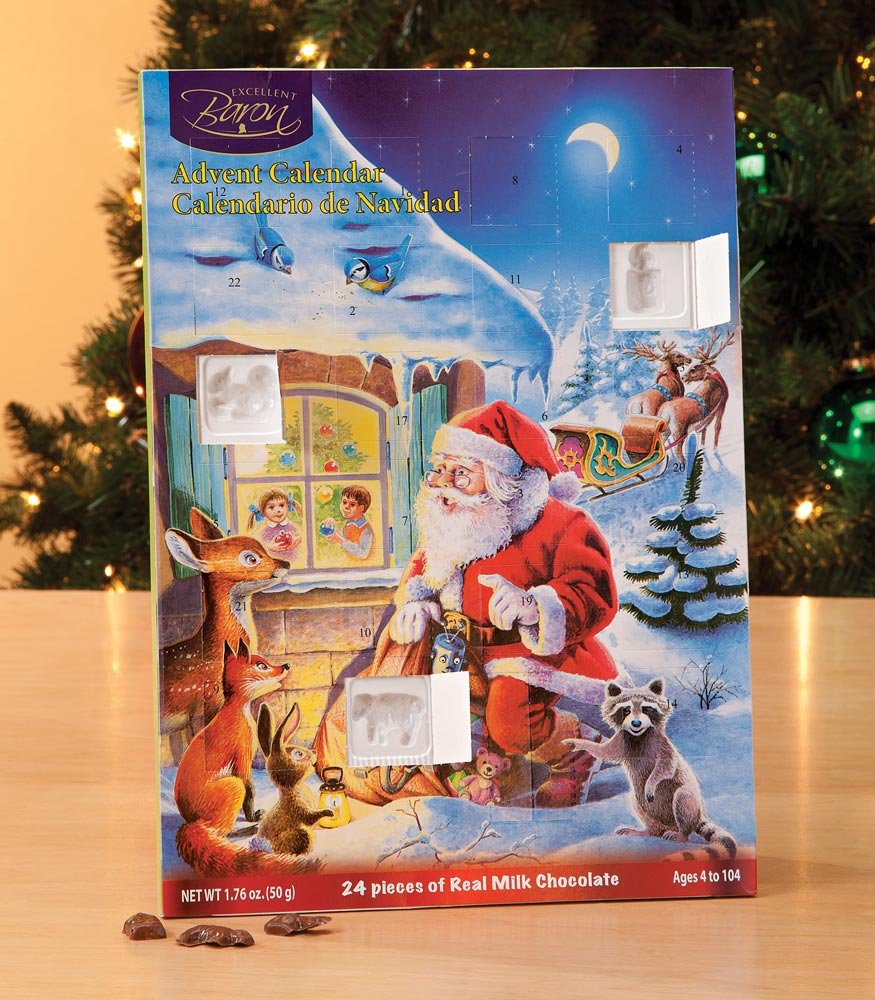 Miles Kimball Chocolate Advent Calendar: Amazon.com: Grocery ...