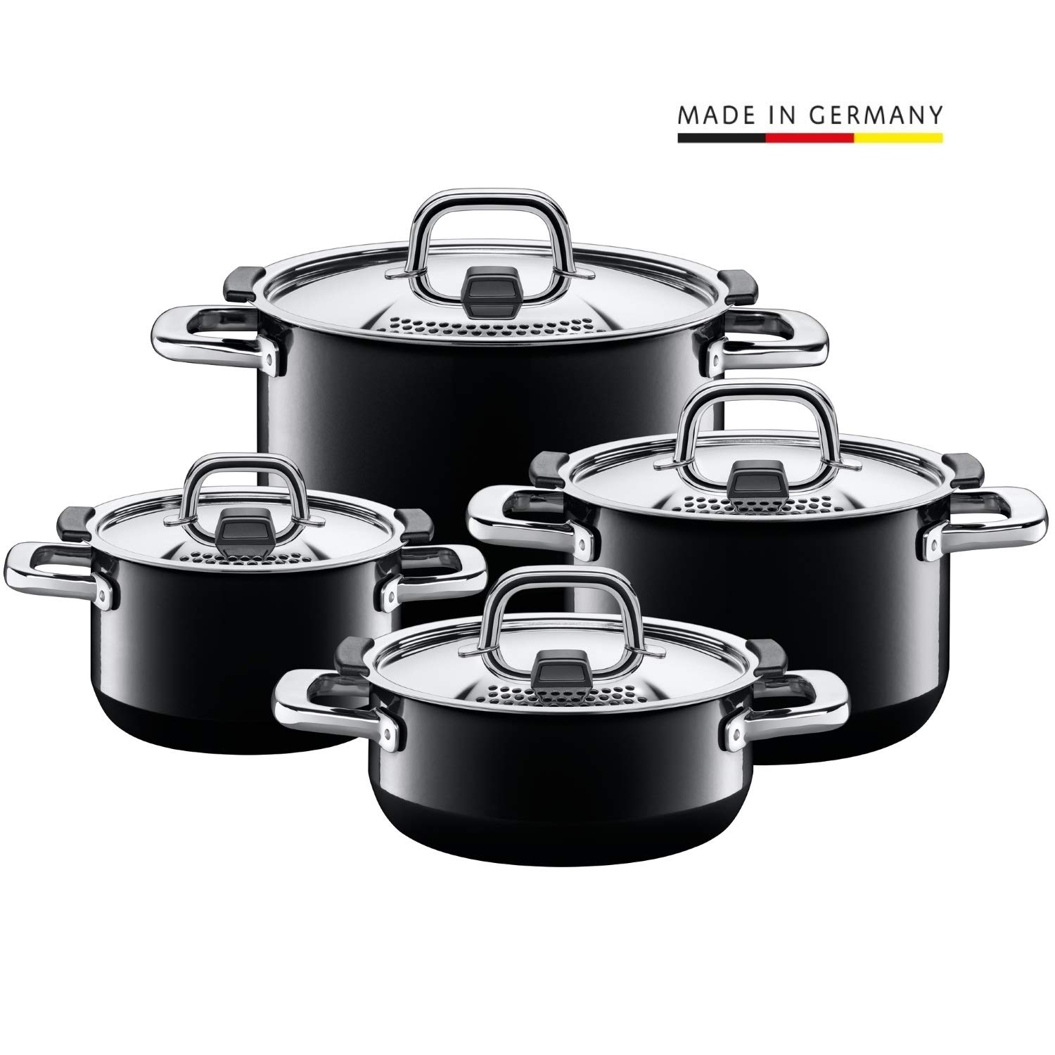 Silver 48 x 48 x 28 cm Silit Cookware Set Comodo 4 pcs of Stainless Steel
