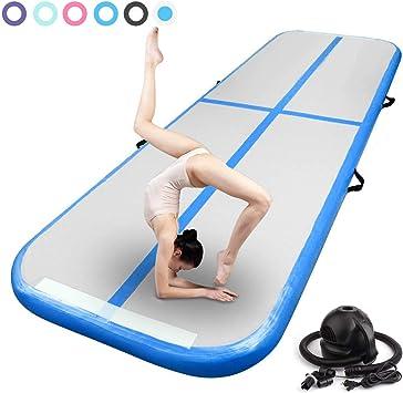 Airtrack Tapis de Gymnastique Gonflable Exercice Tumbling Mat Gym Yoga Pad//Pompe