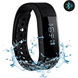 Fitness Tracker, OMorc Braccialetto Fitness Impermeabile IP65 Orologio Fitness Smartwatch Braccialetto Smart Braccialetto Intelligente con OLED Schermo Fitness Tracker Remote Camera, per iPhone Android Smartphone, Nero