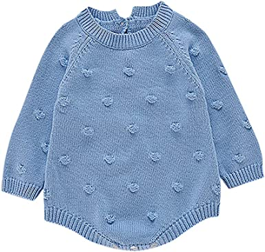 Baby Clothes,Newborn Infant Baby Boy Girl Knitted Winter Romper Jumpsuit Outfits Clothes,Baby Boys Clothing Sets,Blue,100