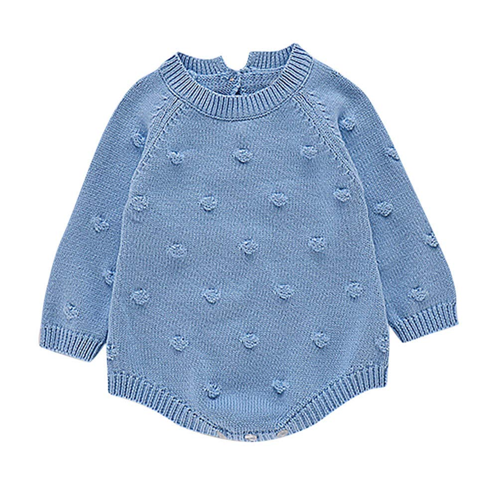Amazon.com: Tronet Baby Knit Romper Infant Newborn Baby Boy Girl Knit Romper Bodysuit Crochet Clothes Outfits: Clothing