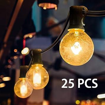 Lichterkette Aussen Mture Lichterkette 25 Globe Garten Lichterkette