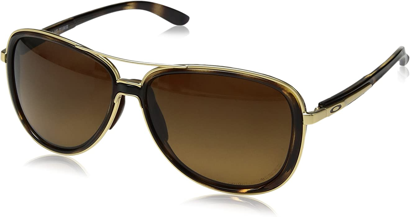 73b7a63a2f Amazon.com  Oakley Men s Split Time Polarized Sunglasses