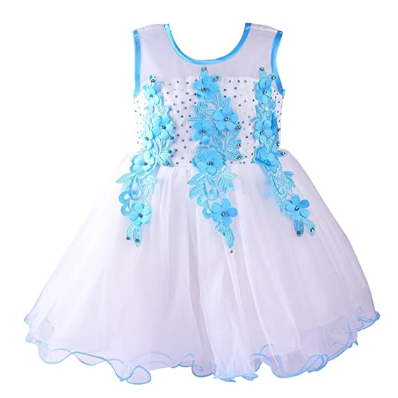 083228e65 Wish Karo Baby Girls Net Frock Dress  Amazon.in  Clothing   Accessories