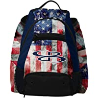 """Boombah Core Old Glory Bat Bag - 20.5"""" x 16"""" x 16"""" - Navy/Red/White"""