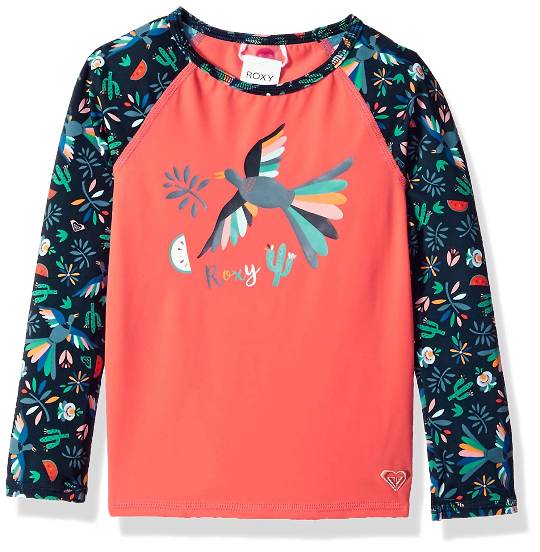 Roxy Girl s Birdy Long Sleeve Rashguard Rash Guard Shirt Amazon