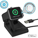 Apple Watch Charger (APPLE CERTIFIED) ONE Dock SOLO, Built-in Original Magnetic Charging Puck Cable + Adjustable Stand for 38mm/42mm Apple Watch Series 1, 2, 3 (Black)