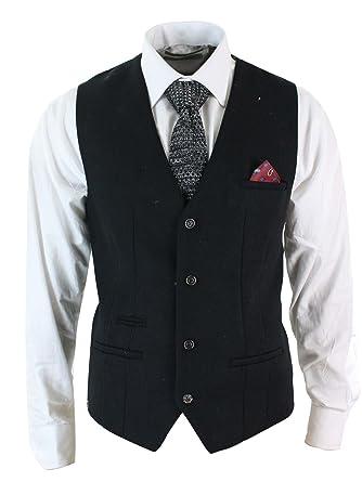 Gilet homme veston tweed et feutre noir ou marron rétro chic décontracté  coupe ajustée  Amazon.fr  Vêtements et accessoires f287f0960ac1