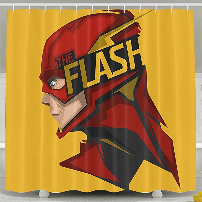 AoDa8 The Flash Shower Curtain Amazoncouk Kitchen Home