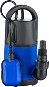 1 HP Sump Pumps Submersible Water Pump Electric Transfer Water Pump for Pool Draining (US Stock)